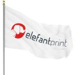 Företagsflaggor - flagga med tryck