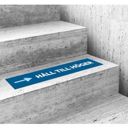 Håll till höger ‒ golvdekal linje